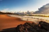 Sunset in the beach — Stock Photo
