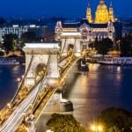 Szechenyi Chain Bridge, Budapest — Stock Photo #12391517