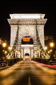 The portal of Szechenyi Chain Bridge, Budapest — Stock Photo