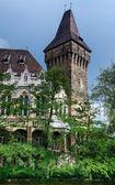 Vajdahunyad Burg gotische Turm in budapest — Stockfoto