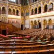 Chamber of Congress, Hungarian Parliament — Stock Photo
