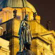 Carol IV statue,king of Bohemia. Prague — Stock Photo