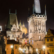 Towers of Mala Strana, on Charles Bridge, Prague — Stock Photo