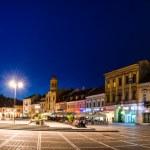 Council Square nightview in Brasov, Romania — Stock Photo #15406313