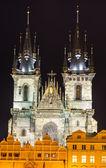 Tyn Church, landmark of Prague old city — Stock Photo