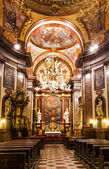 Baroque interior of Church of Saint Francis, Prague — Stock Photo