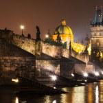 ������, ������: Charles Bridge in Prague nightview Czech Republic