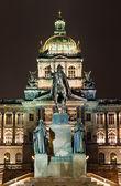 Wenceslav Square and National Museum, Prague — Stock Photo