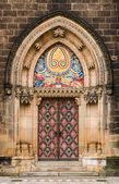 St Peter and Paul gothic portal, Prague — Stock Photo