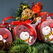 Stock Photo: Christmas globe decoration