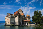 Chateau de Chillon on Lake Geneva, Switzerland — Stock Photo