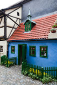 Golden lane little house, praga — Foto Stock