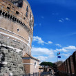 Ancient Saint Angelo Castle in Rome - Stock Photo