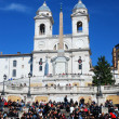 Spanish Steps in Rome, Piazza di Spagna - Stock Photo