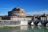 Ancient Saint Angelo Castle in Rome — Stock Photo