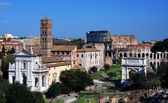 Roman Forum and Colosseo in Rome — Stock Photo