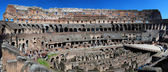 Colosseo or Colosseum, the ancient amphitheatre in Rome — Stock Photo