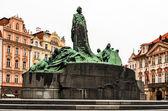 Jan Hus monument in Stare Mesto square, Prague — Stock Photo