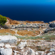 Ancient theater in Thira, Santorini — Stock Photo