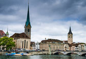 Zurich, Fraumunster church, Switzerland — Stock Photo