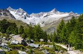 Switzerland Alps trail and landscape in Zermatt — Stock Photo