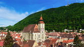 Black Church and Tampa mountain, Brasov, Romania — Stock Photo