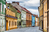 Medieval street in Brasov, Romania — Stock Photo