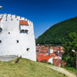 Stock Photo: White Tower of Brasov fortifications, Transylvania, Romania