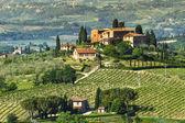 Wiejski krajobraz toskanii — Zdjęcie stockowe