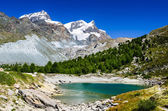 Grunsee Lake, Zermatt, Switzerland — Stock Photo