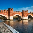 Ponte Scaligero in Verona, Italy - Stock Photo
