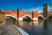 Ponte Scaligero in Verona, Italy — Stock Photo