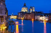 Grand Canal of Venice by night — Stock Photo