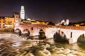Ponte Pietra in Verona, Italy — Stock Photo