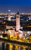 Verona skyline, night. Italy — Stock Photo