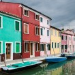 Stock Photo: Colorful Burano channel view, Venice
