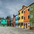Colorful Burano channel view, Venice - Stock Photo