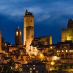 San Gimignano night, Tuscany — Stock Photo #26538439