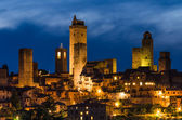 San Gimignano night, Tuscany — Stock Photo