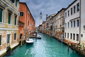 Venice water channel in Italy — Stock Photo