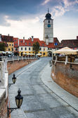 Downtown of Sibiu, Transylvania — Stock Photo