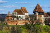 Fortified Church of Alma Vii, Transylvania landmark in Romania — Stock Photo