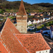 Mosna village and fortified church, Romania — Stock Photo