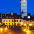 Council Tower at twilight, Sibiu, Transylvania — Stock Photo