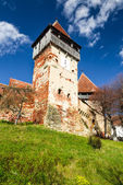 Fortified Church of Alma Vii, Transylvania landmark in Romania — Stock Photo