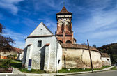 Fortified Church of Valea Viilor, Transylvania landmark in Roman — Stock Photo