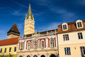 Historical center of Medias, Romania — Stock Photo