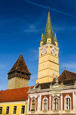 Trumpeter Tower in Medias, Transylvania, Romania — Stock Photo