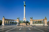Heroes' Square, Millennium Monument, in Budapest — Stock Photo