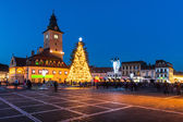 Brasov historical center in Christmas days, Romania — Stock Photo